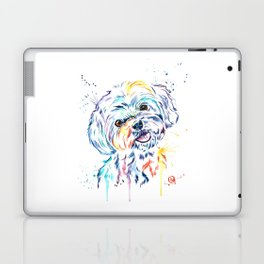 Havanese Colorful Watercolor Pet Portrait Painting Laptop & iPad Skin