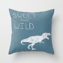Sweet and Wild Dinosaur Throw Pillow