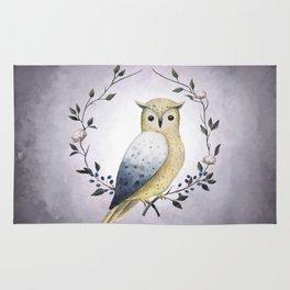 A Long Eared Owl On A Laurel Rug