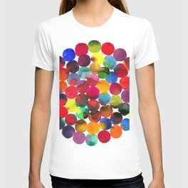 Colored Circles in watercolor T-shirt