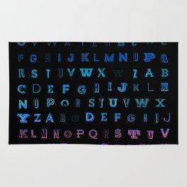 Alphabet Gradient Rug