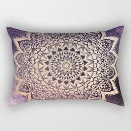 GOLD NIGHTS MANDALA IN PURPLE Rectangular Pillow