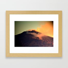 Mount Etna Framed Art Print