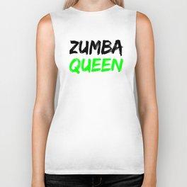 Zumba Queen (Green) Biker Tank