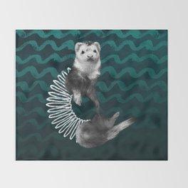Ferret Slinky Throw Blanket