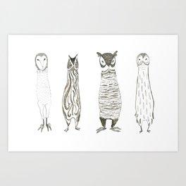 Owl About Owls Art Print