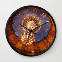 theater Wall Clocks featuring Theater Ceiling by mofoto