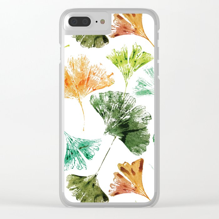Gingko Leaves Clear iPhone Case