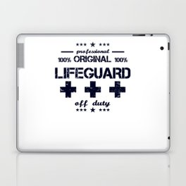 Lifeguard Off Duty Holiday Vacation Beach Summer Relaxing Retired Retirement Laptop & iPad Skin
