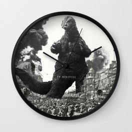 New Orleans Godzilla Attack 1908 Wall Clock