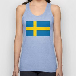 National flag of Sweden Unisex Tank Top
