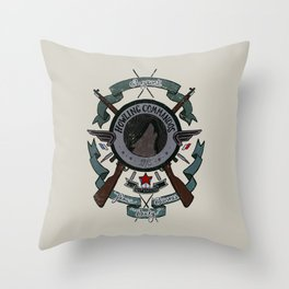 Sgt Bucky Barnes (blue) Throw Pillow