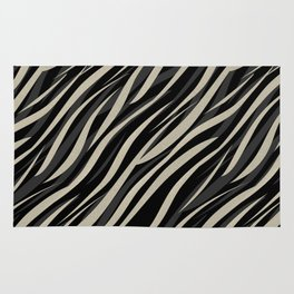 Tiger abstract striped pattern . Rug