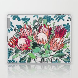 Bouquet of Proteas with Matisse Cutout Wallpaper Laptop & iPad Skin