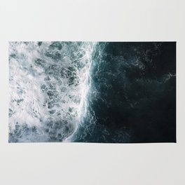 Oceanscape - White and Blue Rug