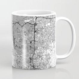 Portland White Map Coffee Mug
