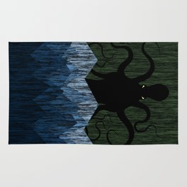 Cthulhu's sea of madness - Green Rug