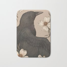 The Crow and Dogwoods Bath Mat