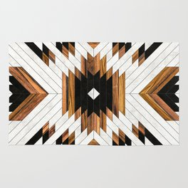 Urban Tribal Pattern 5 - Aztec - Concrete and Wood Rug