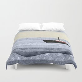 Tugboat Duvet Cover