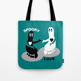 Spooky Love  Footprint ghost Tote Bag