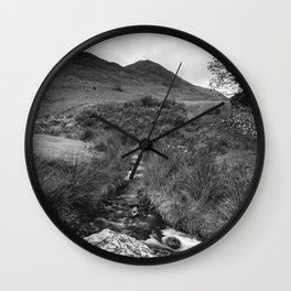 Cinnerdale Beck above Crummock Water with Whiteless Pike beyond. Lake District, UK. Wall Clock