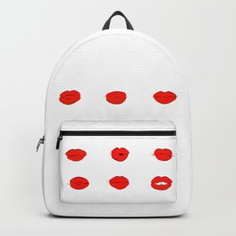 Red Lips Pattern Backpack