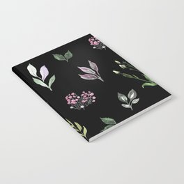 Tiny watercolor leaves pattern Notebook