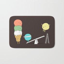 Acrobatic ice cream Bath Mat