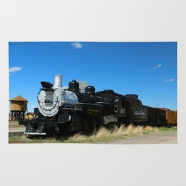 Denver & Rio Grande Steam Engine Rug