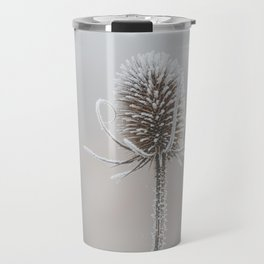 Thistle in the winter Travel Mug