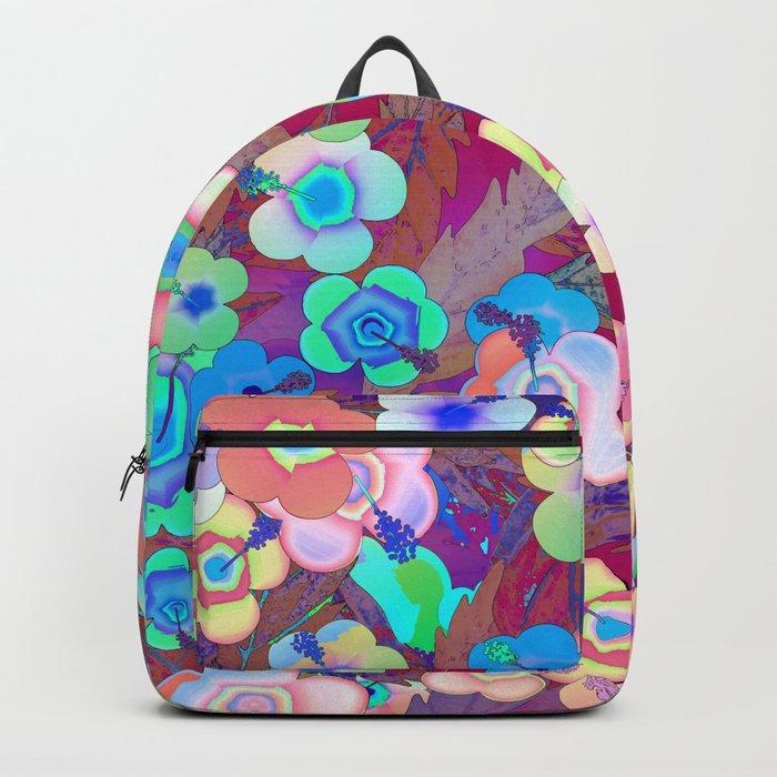Hippie Hibiscus Backpack
