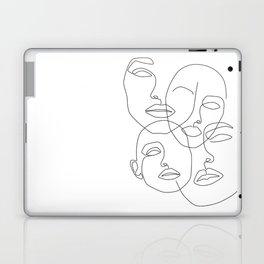 Messy Faces Laptop & iPad Skin