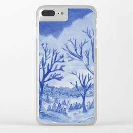 Blue day Clear iPhone Case