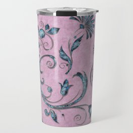 Rose quarts and aquamarine gems Travel Mug
