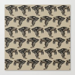 Ancient Warrior (Sabertooth Skull) Canvas Print