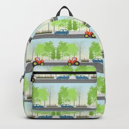 Cars and trees pattern Backpack
