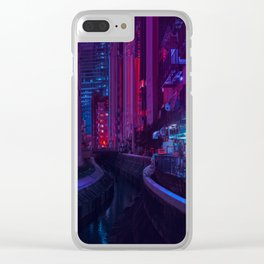 Tokyo Nights / Glitch City / Liam Wong Clear iPhone Case