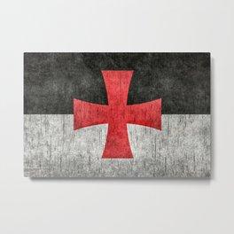 Knights Templar Flag in Super Grunge Metal Print