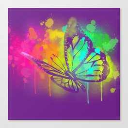 Spray Paint Butterfly Canvas Print
