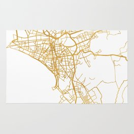 LIMA PERU CITY STREET MAP ART Rug