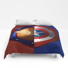 Wonder Woman/Captain America Comforters