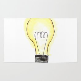 Lightbulb in Color Rug