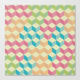 Sugar Cubes Geometric Pattern Canvas Print