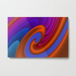 sweeping lines for your home -7- Metal Print