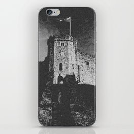 Cardiff Castle Keep Black and White-Wales iPhone Skin