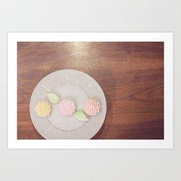 Pastel Flower Cookies Art Print