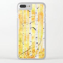 Autumn Birch Clear iPhone Case