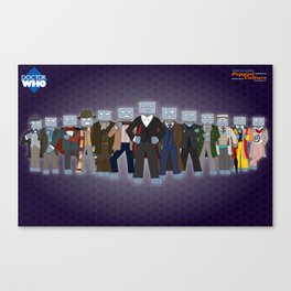 Robot of Leisure: Popped Culture – Doctor Who edition Canvas Print