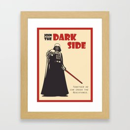 The Dark Side Framed Art Print